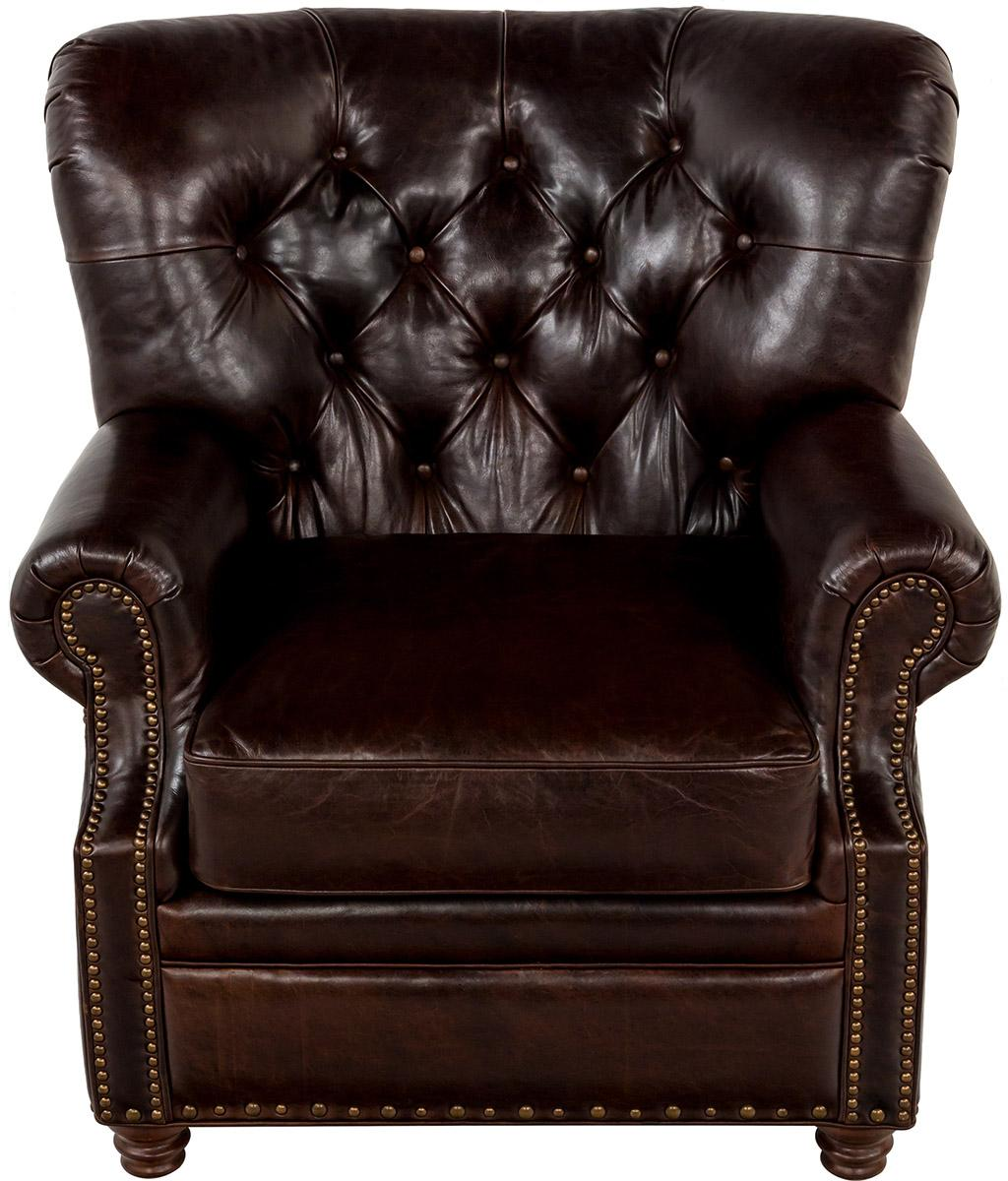 Traditional Leather Tufted Nailhead Armchair- Safavieh.com