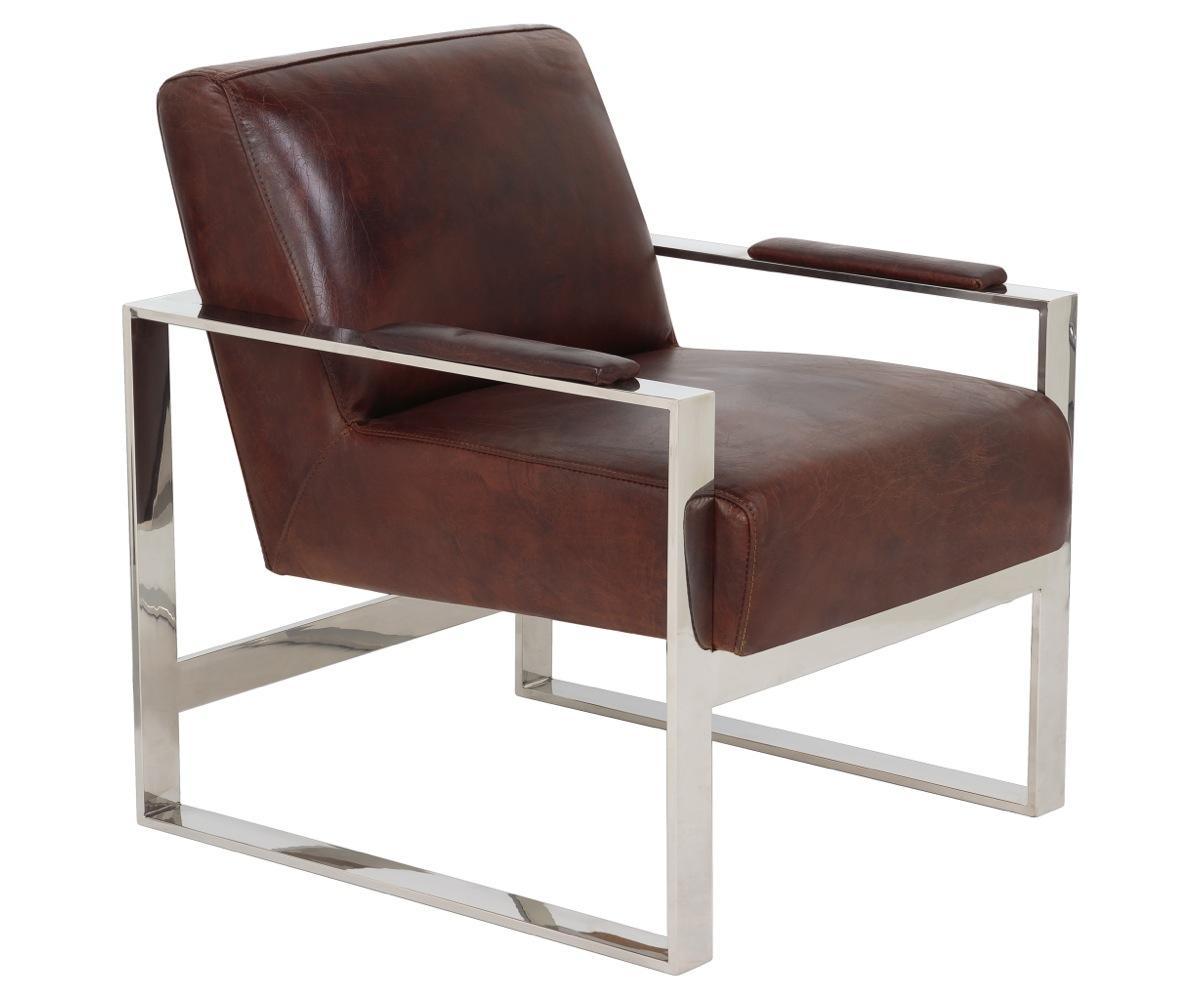 Mid Century Modern Leather Metal Accent Chair Safavieh Com