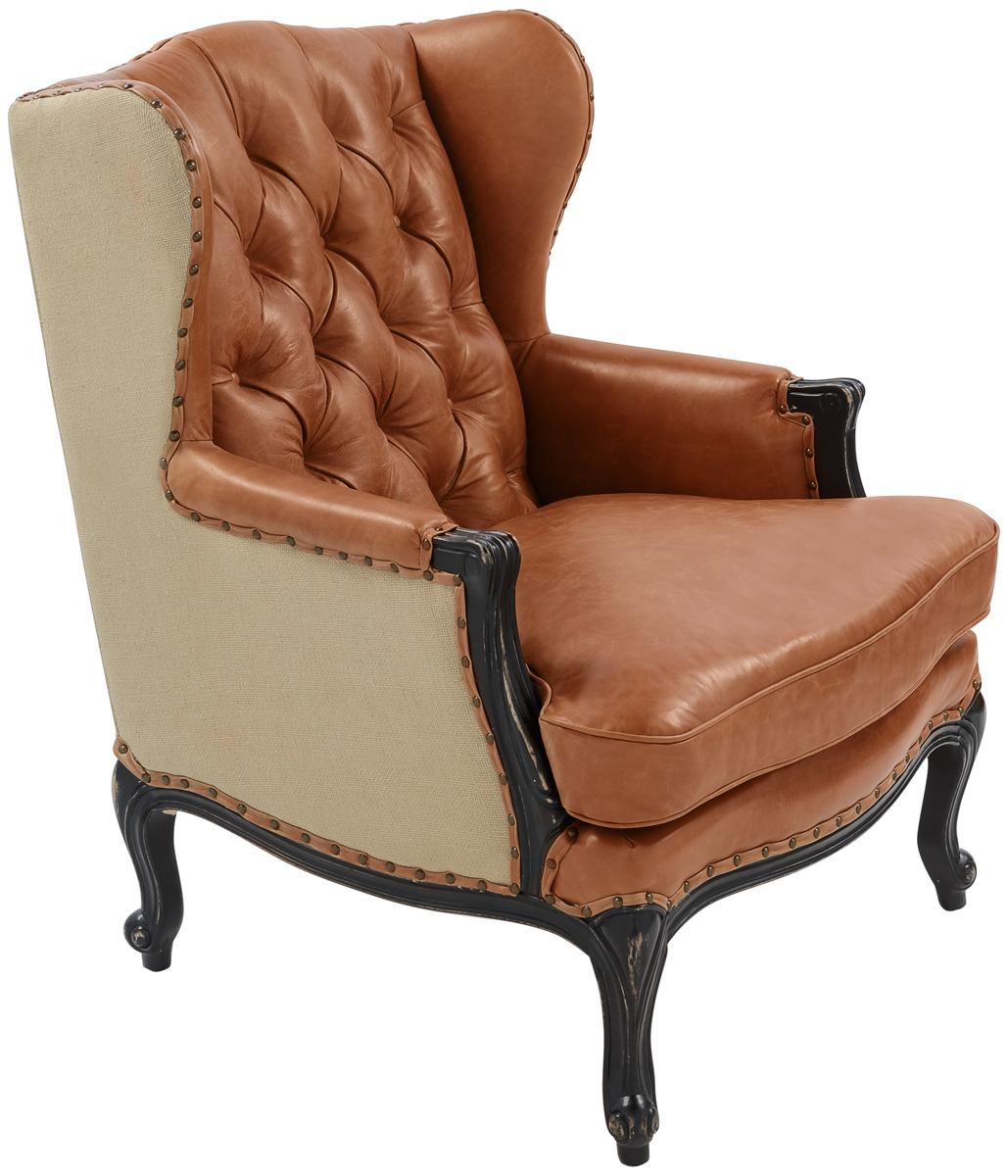 Ashland Leather Armchair Knt5020a Accent Chairs Color Chair Light Brown