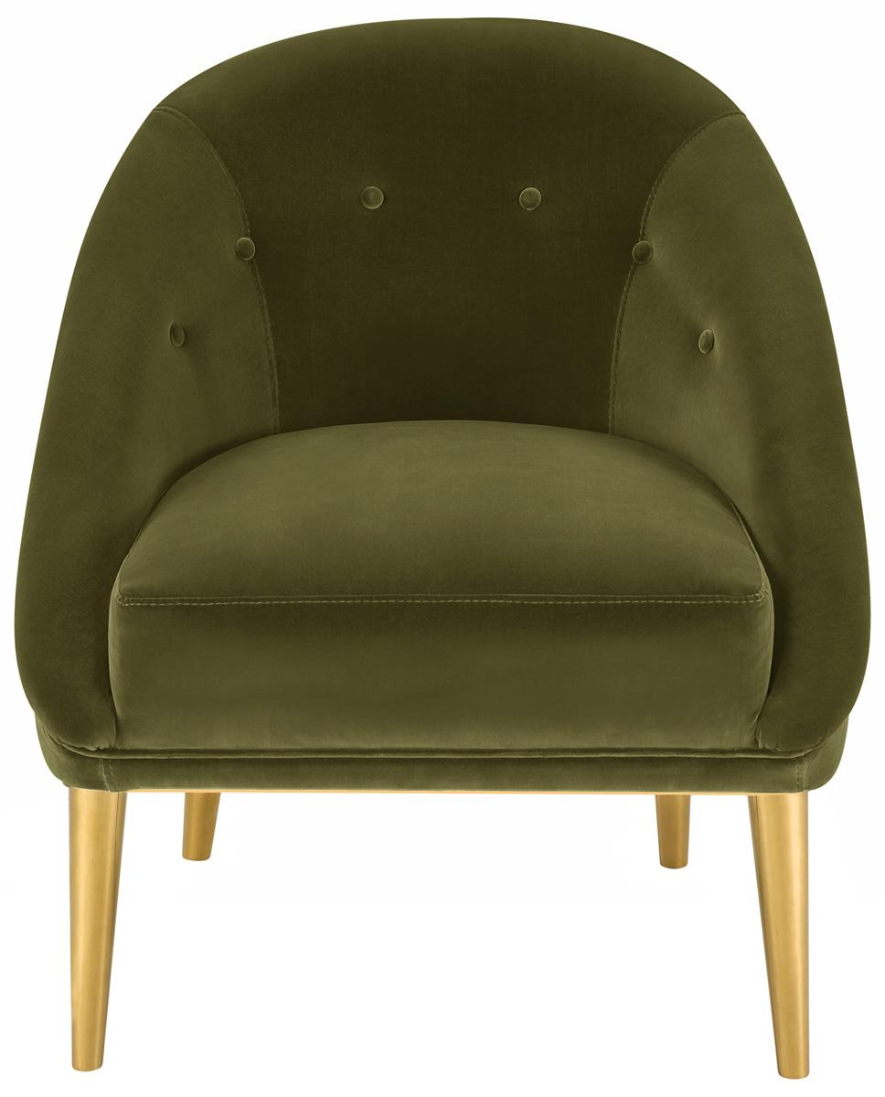 Superieur HOPKINS VELVET CLUB CHAIR KNT7018A. Color: Dark Olive Green
