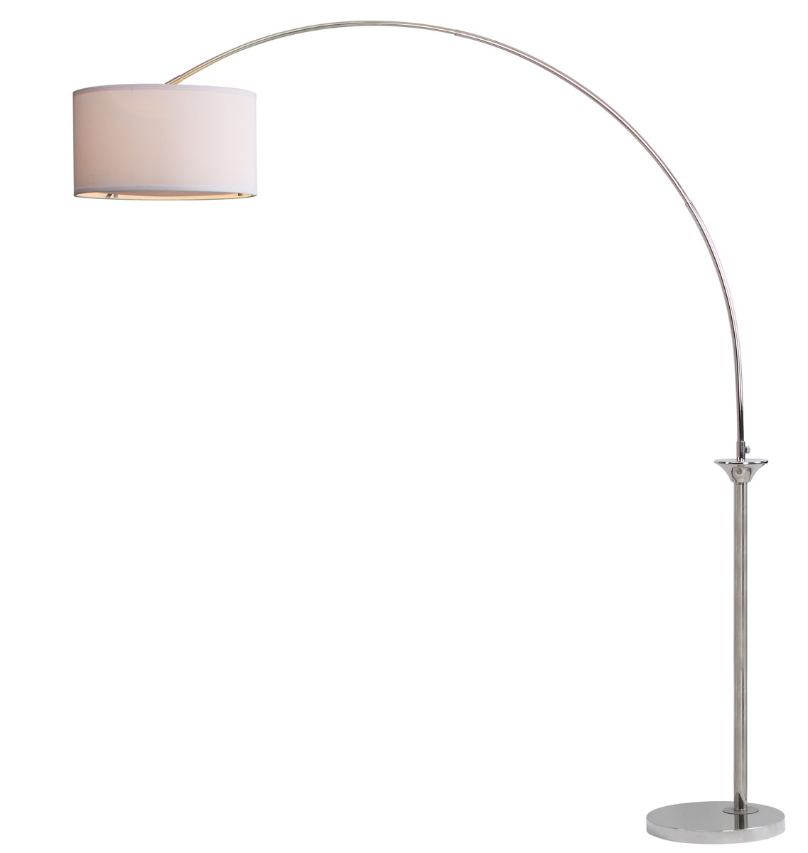 leaning toward the feminine side this elegant arc floor lamp is the perfect bridge between and design its compact curved arc in