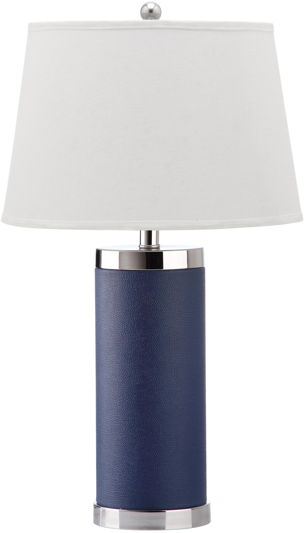 navy table lamp acrylic leather column table lamp design lit4144aset2 table lamps lighting by safavieh