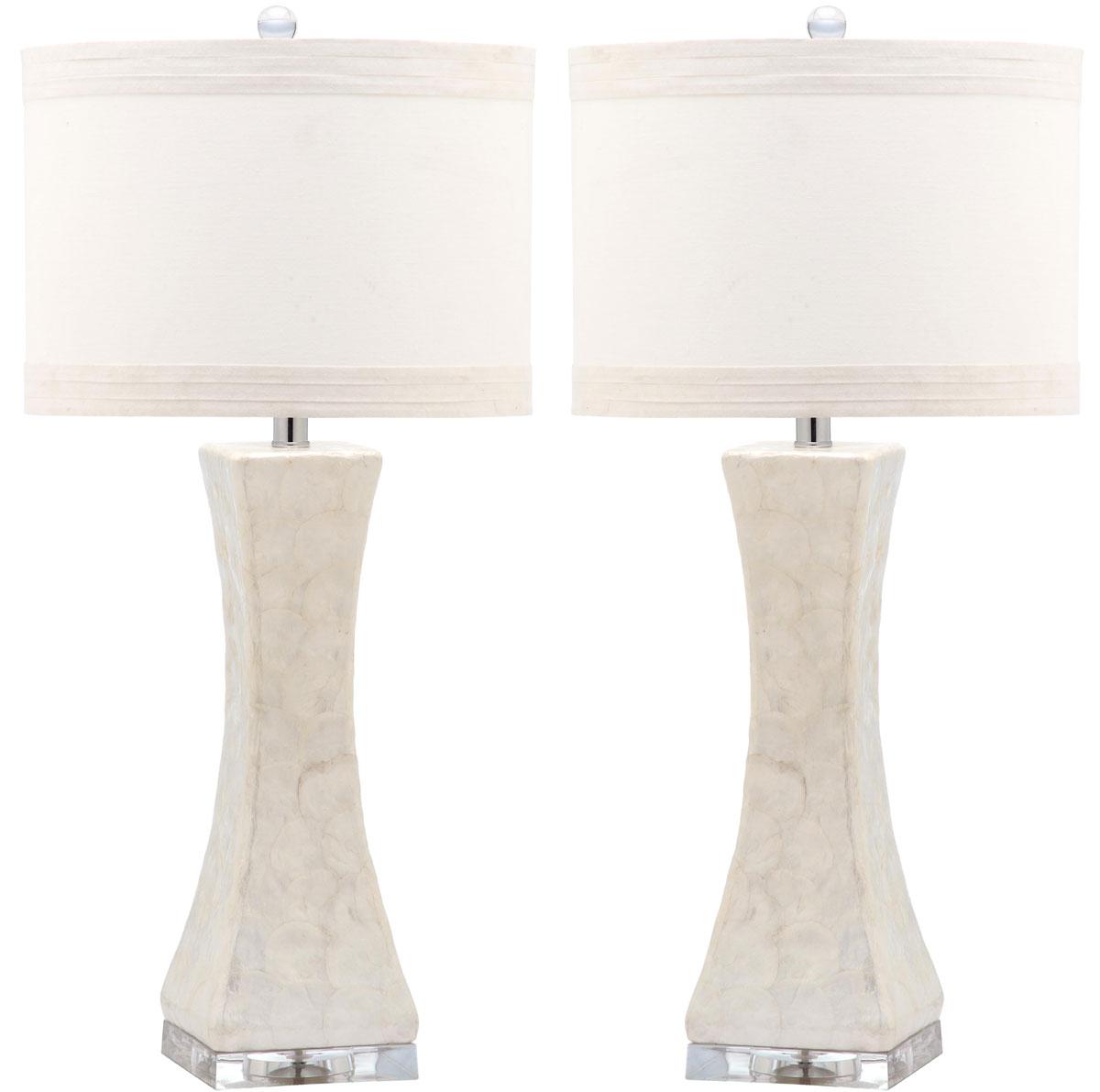 SHELLEY CONCAVE TABLE LAMP LIT4146A SET2