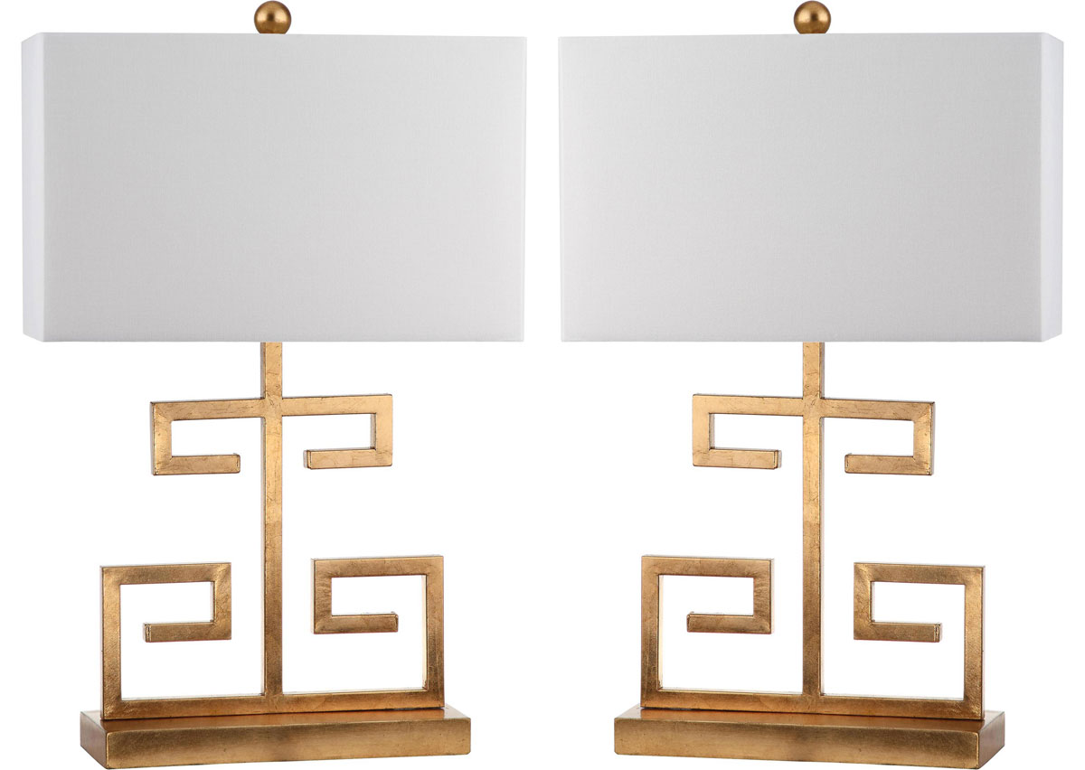 GREEK KEY TABLE LAMP LIT4160C SET2