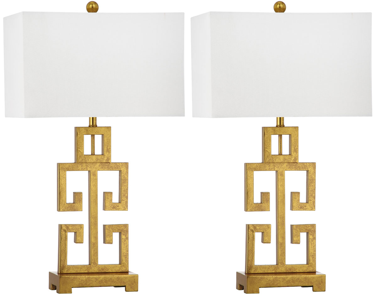 GREEK KEY TABLE LAMP LIT4305A SET2