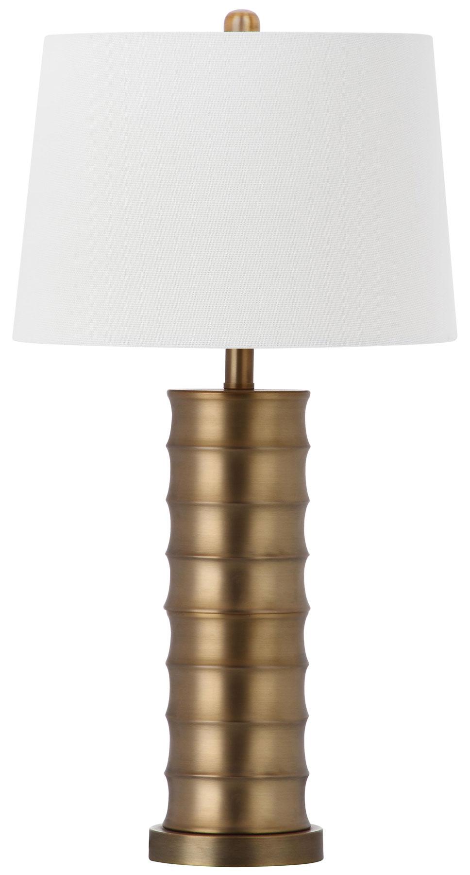 LINUS BRASS COLUMN TABLE LAMP LIT4319A SET2
