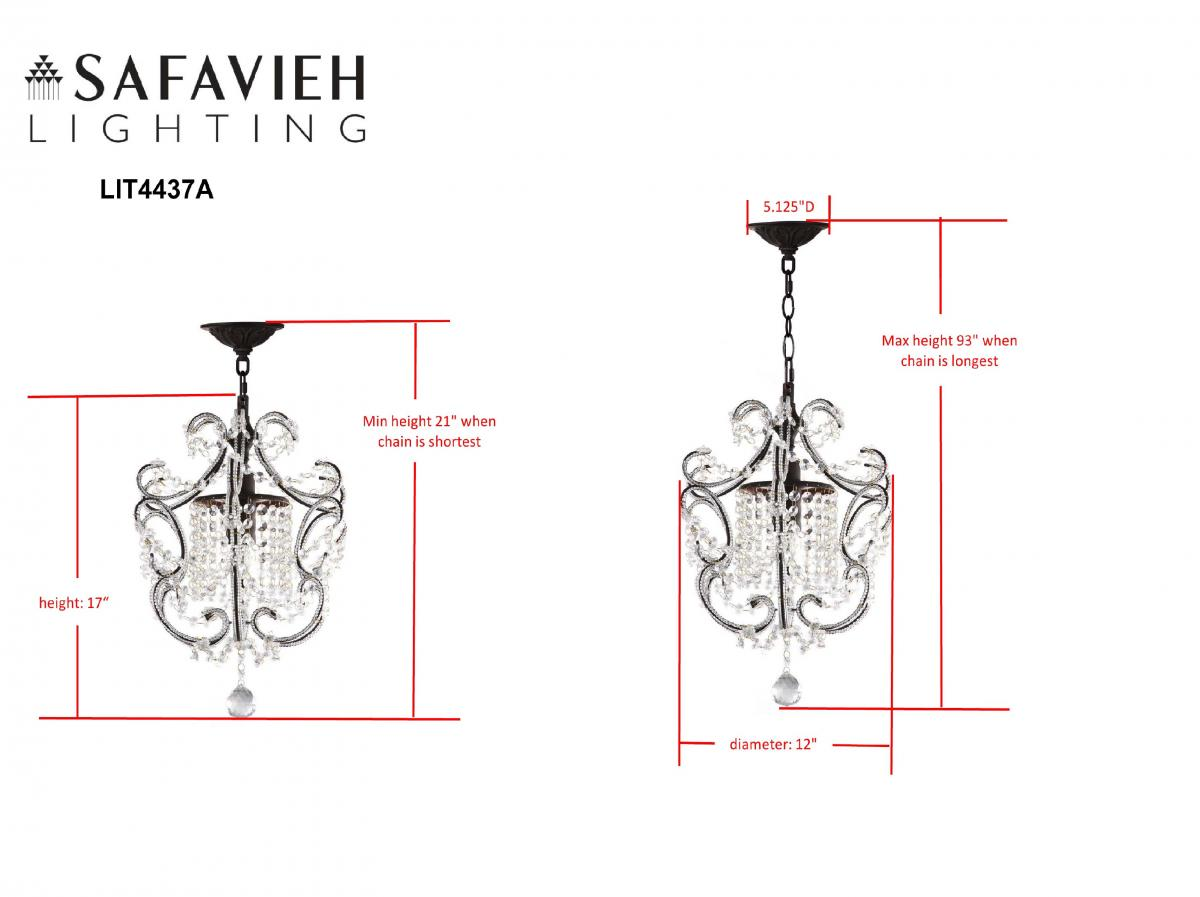 LIT4437A Chandeliers - Lighting by Safavieh