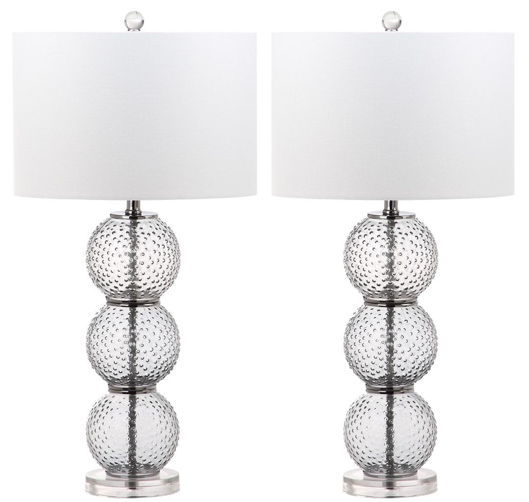 PORT 28.5-INCH ROBERT GLASS TABLE LAMP LIT4506A-SET2  sc 1 st  Safavieh.com & LIT4506A-SET2 Table Lamps - Lighting by Safavieh