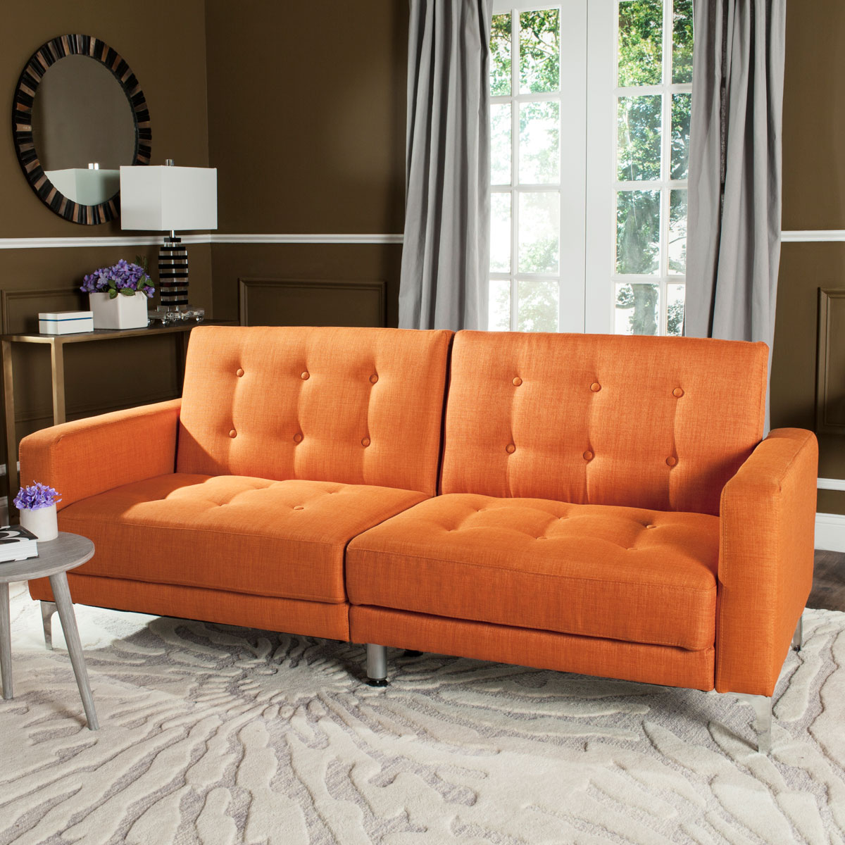 Fresh Upholstered Sofa Bed | Futon - Safavieh.com DN69