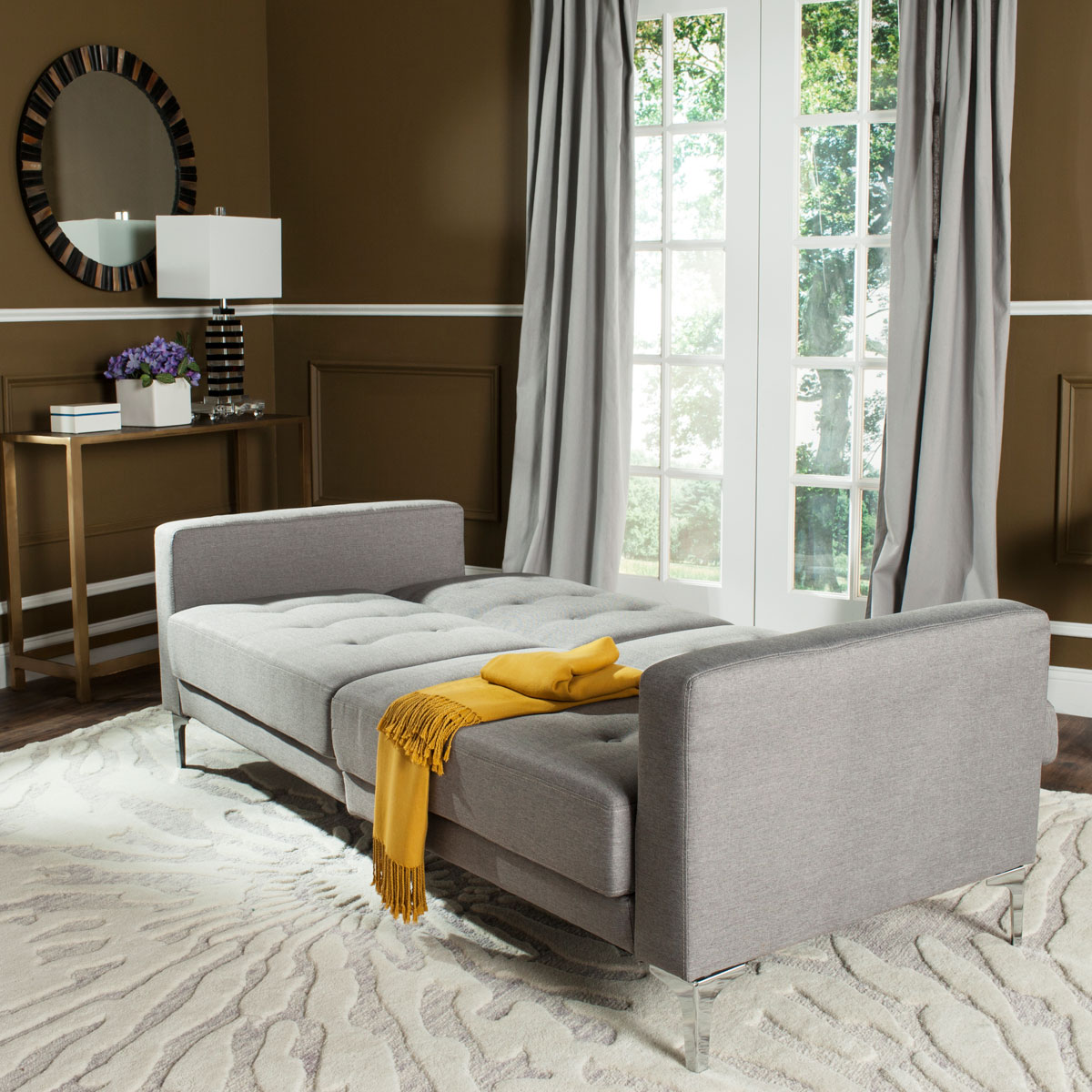 Grey Sofa Bed Upholstered Futons Safavieh Com