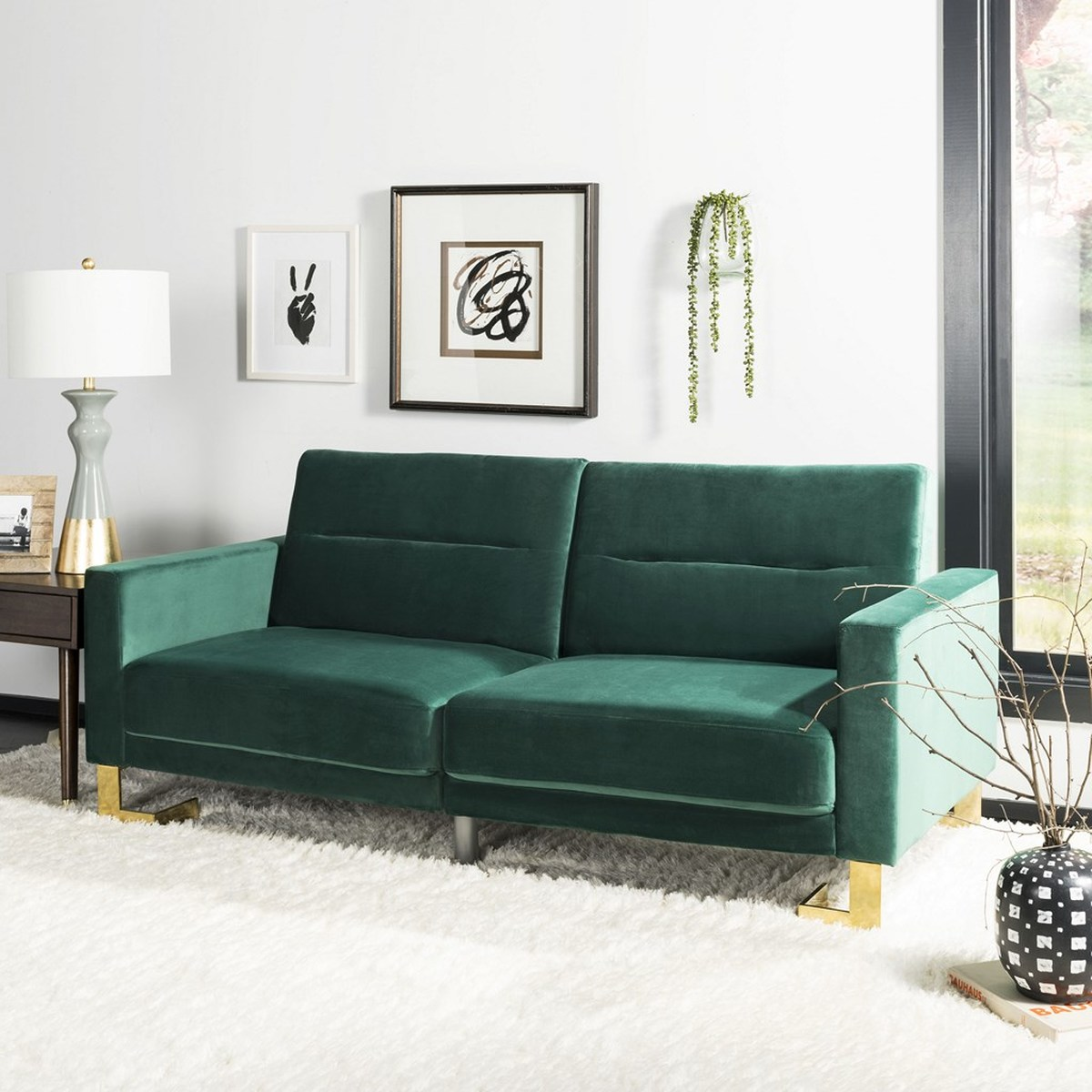 ... The Mid Century Modern Designs Of Americau0027s Famous Husband And Wife  Design Duo. A Modern Classic, It Instantly Transforms Into A Foldable Sofa  Bed.