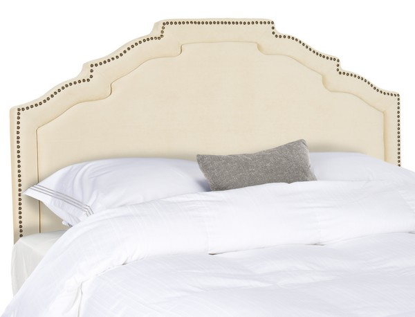 Alexia Buckwheat Headboard – Brass Nail Heads