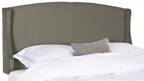 Austin Pewter Winged Headboard – Silver Nail Heads