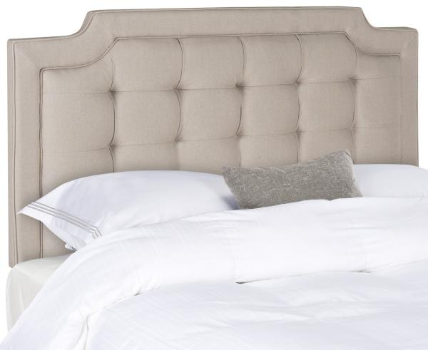 Sapphire Taupe Tufted Linen Headboard