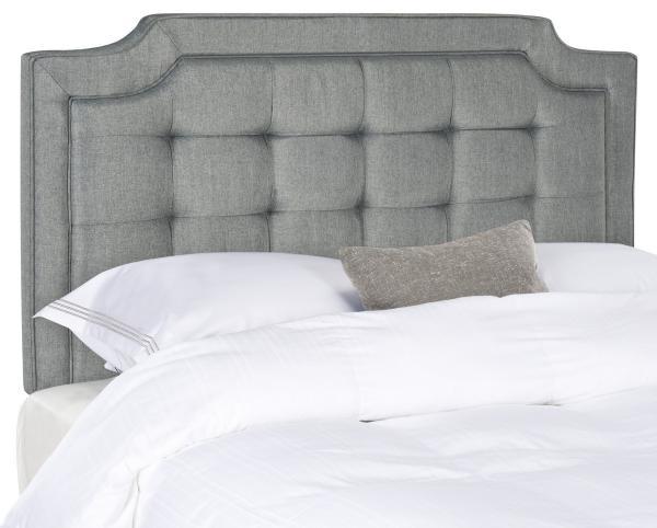 Sapphire Grey Tufted Linen Headboard