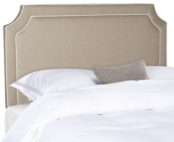 Dane Grey Amp White Piping Headboard Headboards Furniture