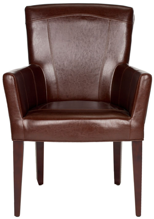 ACCENT CHAIRS. Color Brown Leather. Save. MCR4710A  sc 1 st  Safavieh.com & MCR4710A Accent Chairs - Furniture by Safavieh