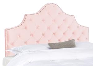 fb4b1437464a8 Arebelle Velvet Tufted Headboard - Silver Nail Heads Item  MCR4035K Color   Blush Pink
