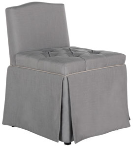 BETSY VANITY CHAIR Item MCR4202B Color Grey Taupe