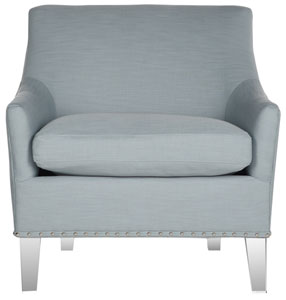 HOLLYWOOD GLAM ACRYLIC TEAL CLUB CHAIR Item: MCR4214B Color: Teal / Clear