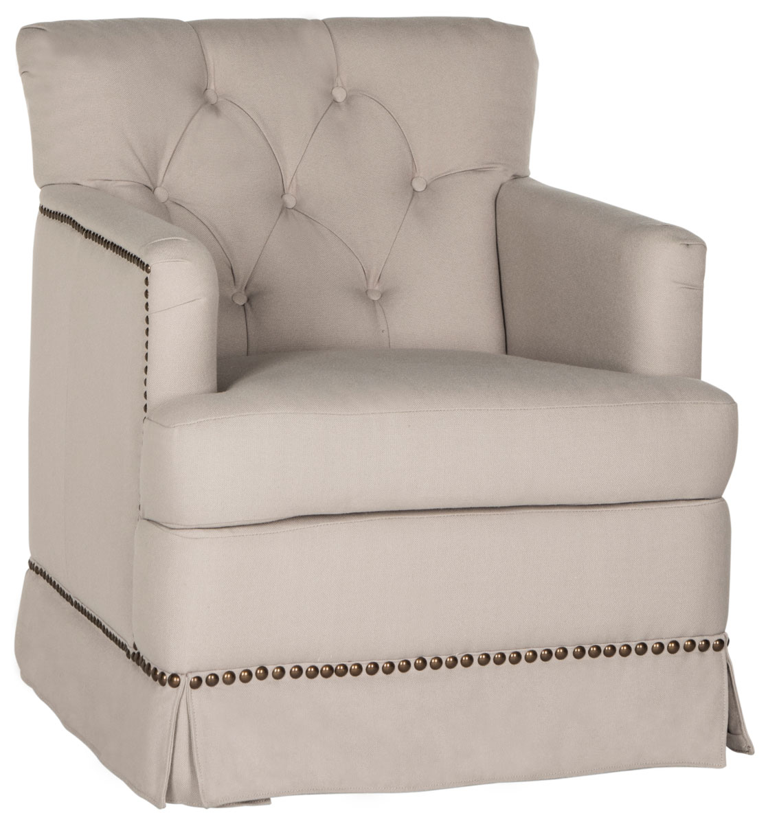 millicent swivel accent chair brass nail heads mcr4676a accent chairs