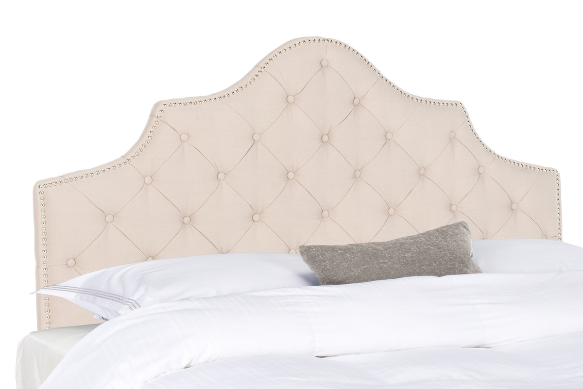 Arebelle Taupe Tufted Headboard Headboards Furniture By Safavieh