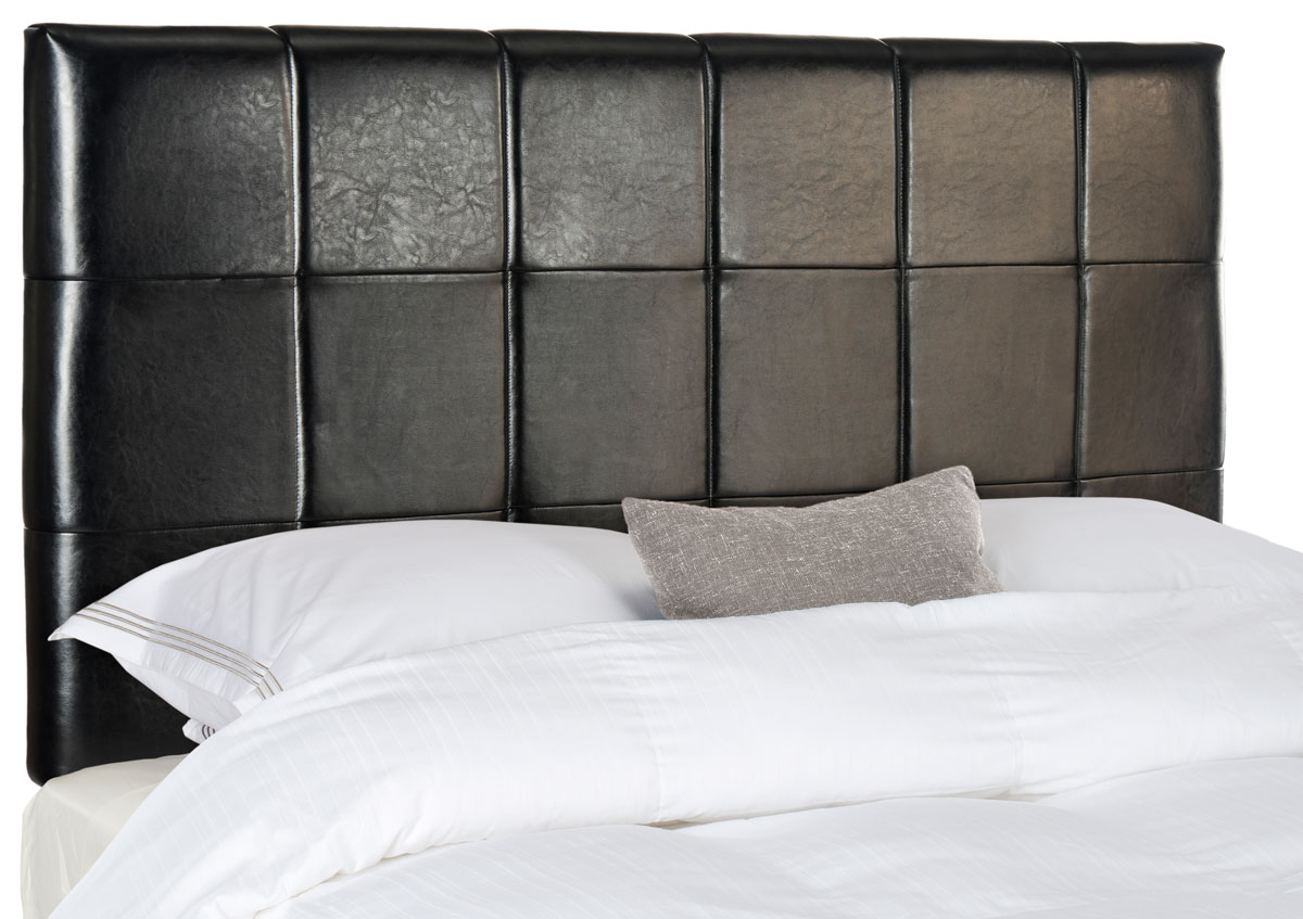 Quincy Black Leather Headboard Headboards Furniture By Safavieh