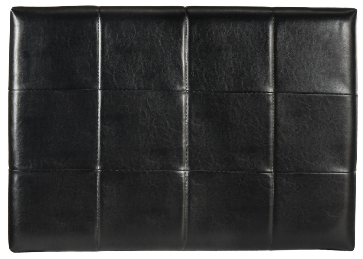 safavieh quincy black leather headboard