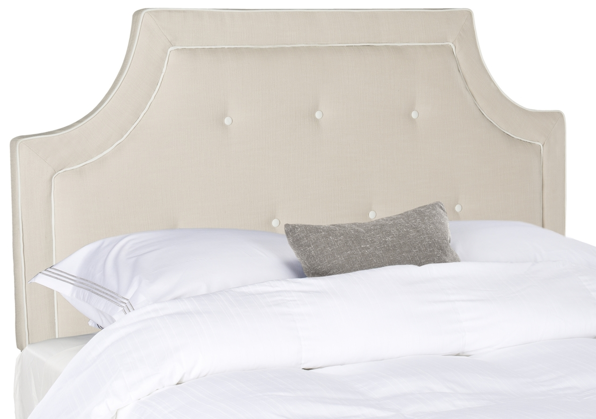 Tallulah Beige White Arched Tufted Headboard Headboards