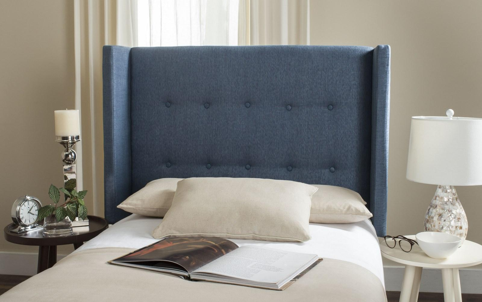 Damon Denim Blue Winged Headboard Headboards Furniture