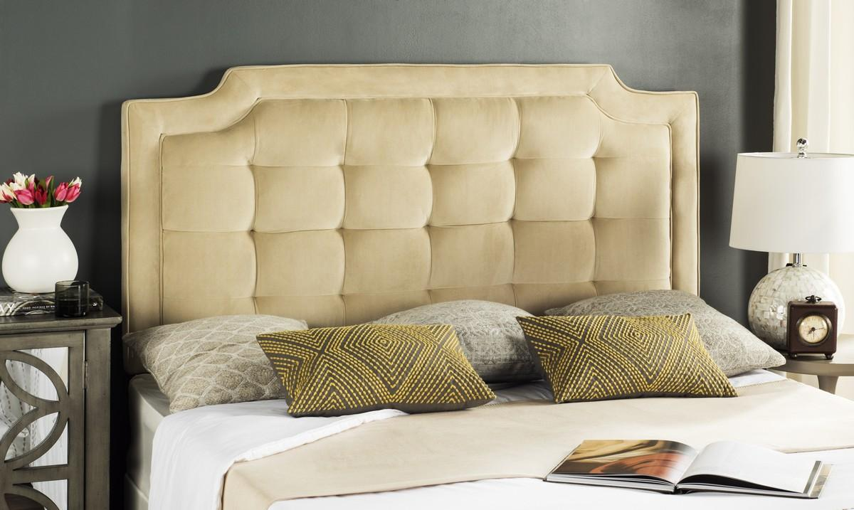 Sapphire Buckwheat Tufted Velvet Headboard Headboards - Furniture by ...