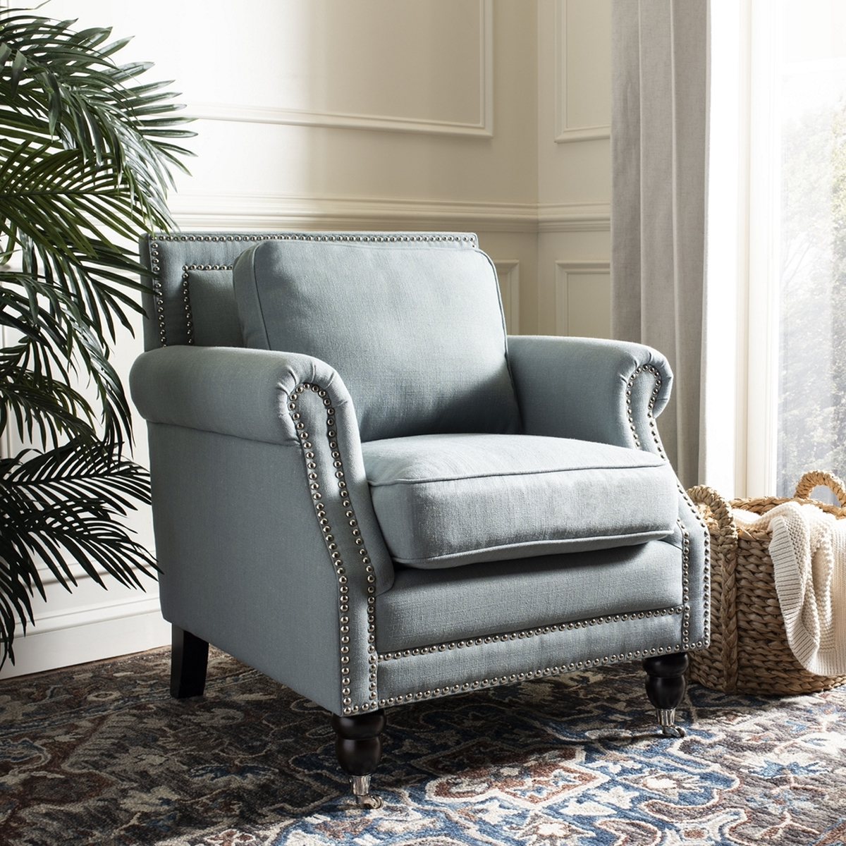 ACCENT CHAIRS. Color: Seaside Blue