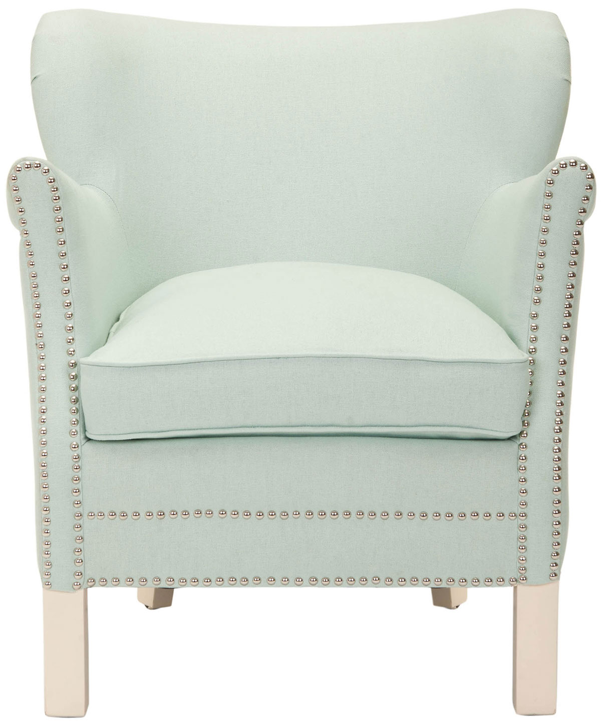 blue accent chair armchairs safavieh com rh safavieh com  seafoam green chair sashes