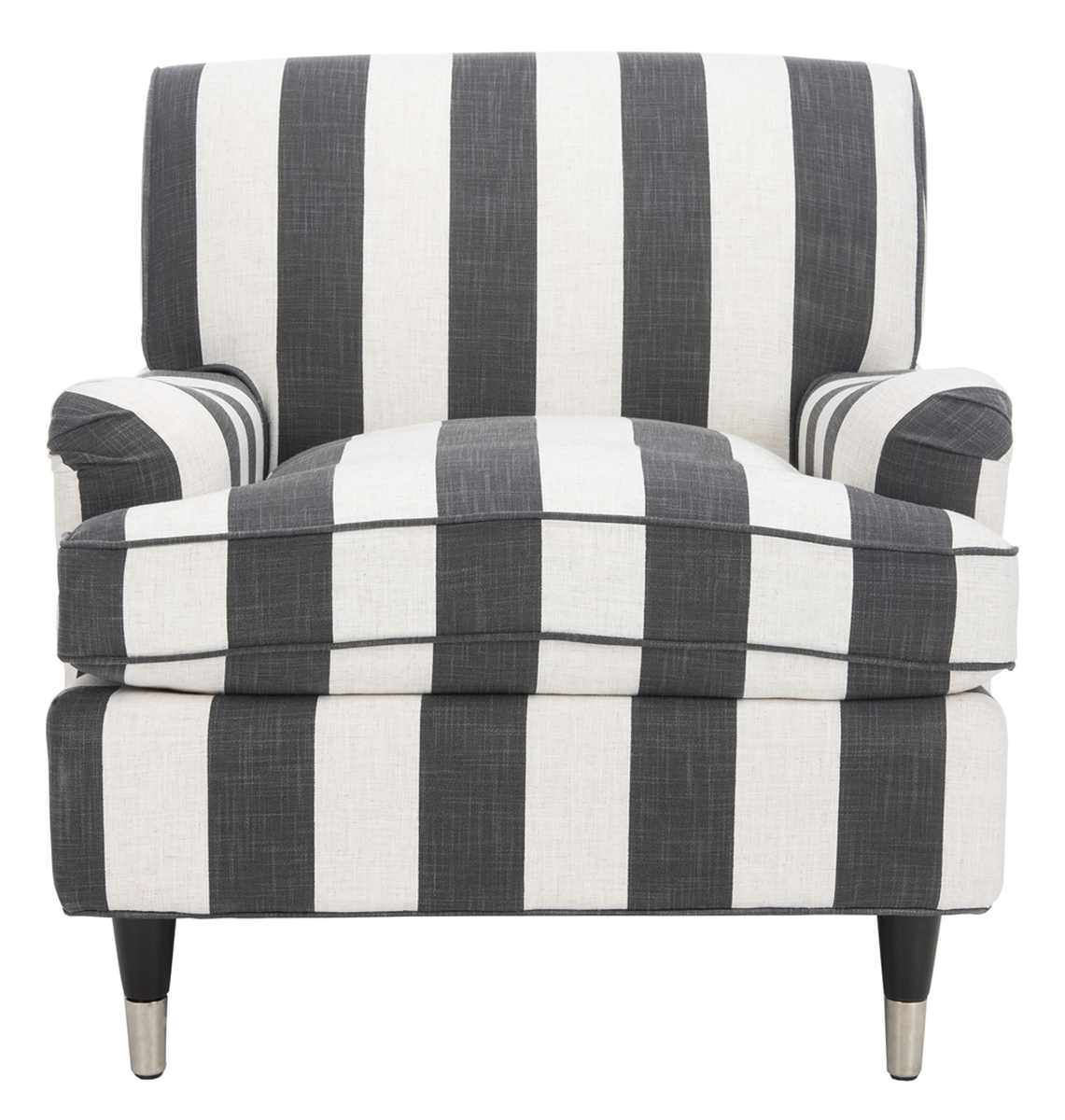 ACCENT CHAIRS. Color: Black & White. Save. MCR4571H - Striped Armchair Accent Chairs - Safavieh.com