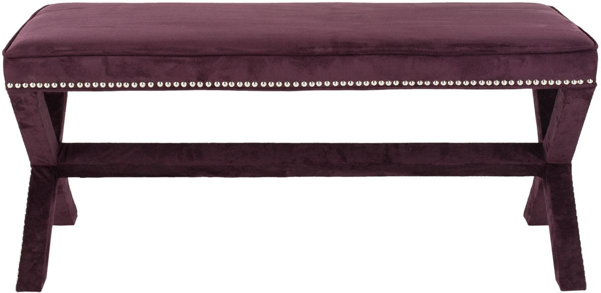 medium size light ottoman and plum bench storage of purple bow