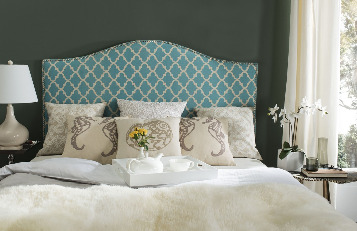 100 white fabric headboard bedroom white platform bed brown