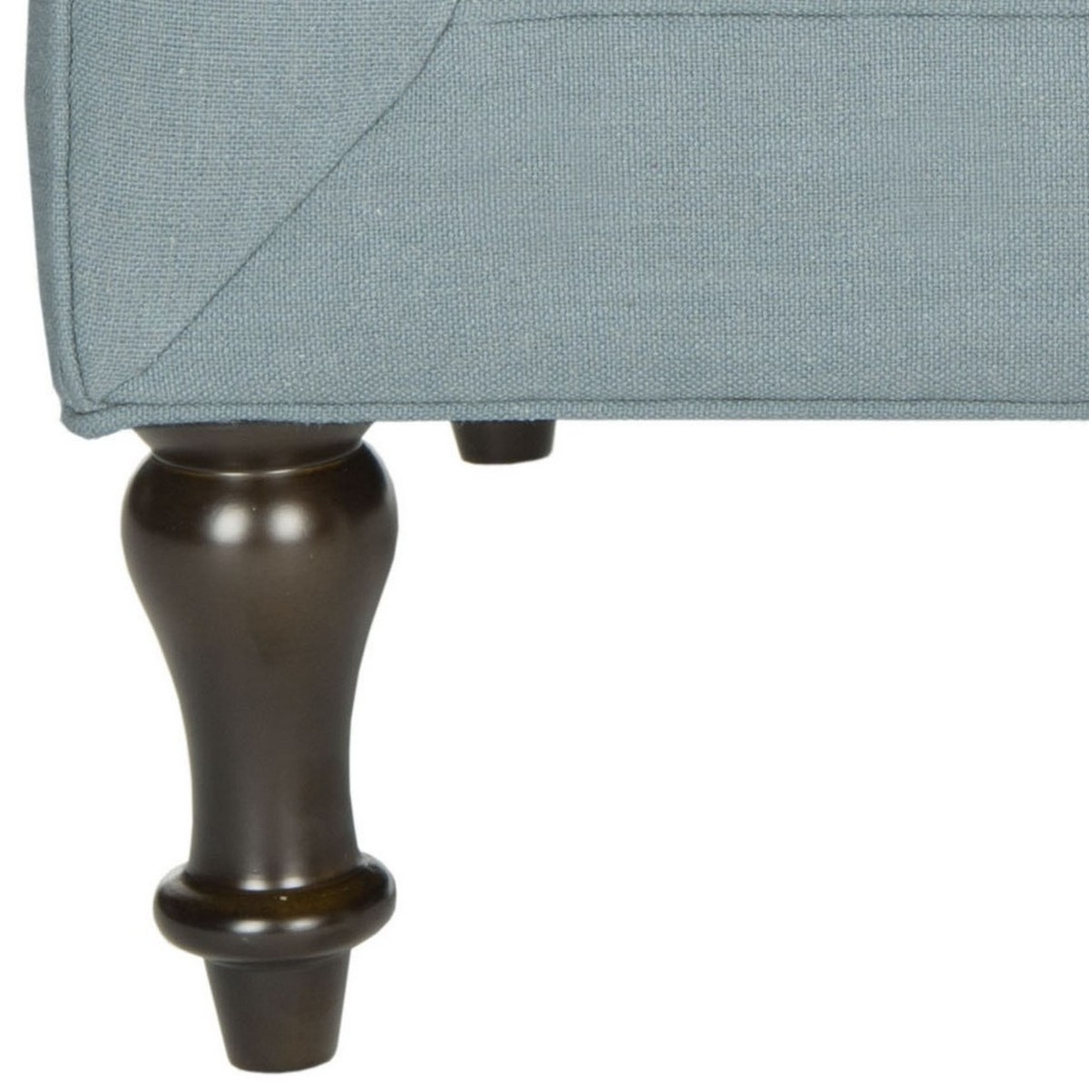 Safavieh Jack Sky Blue Corner Chair Home Decor Accent: MCR4643B Accent Chairs