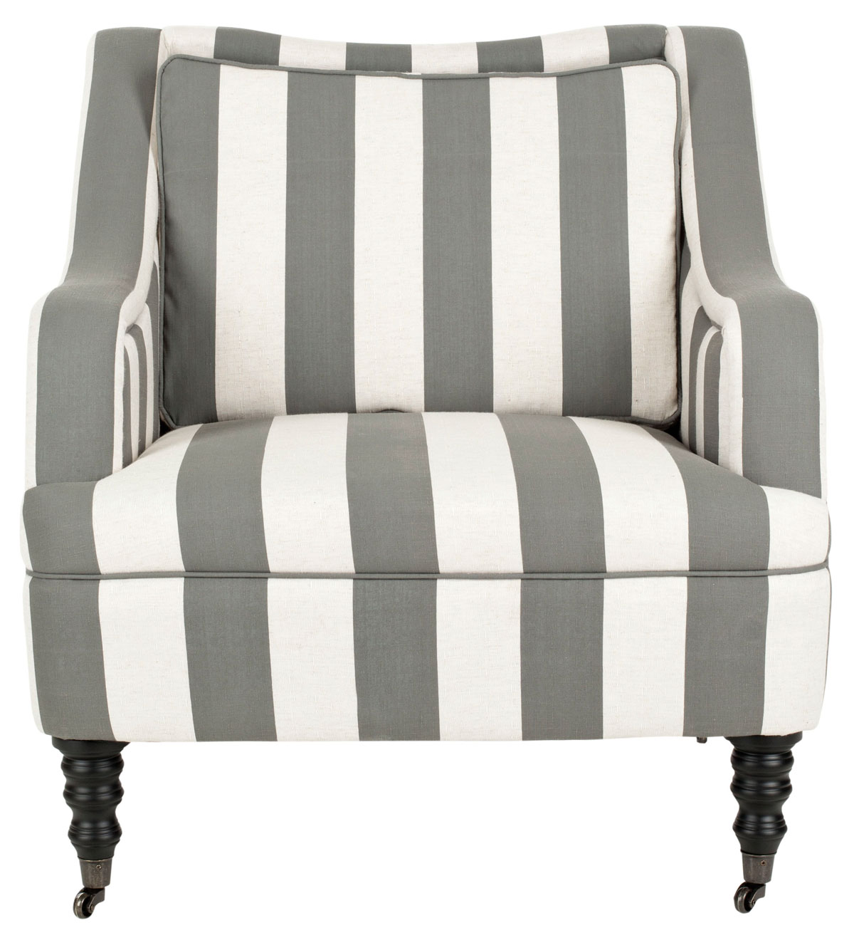 Accent Chairs Color Greyish Blue White Stripe