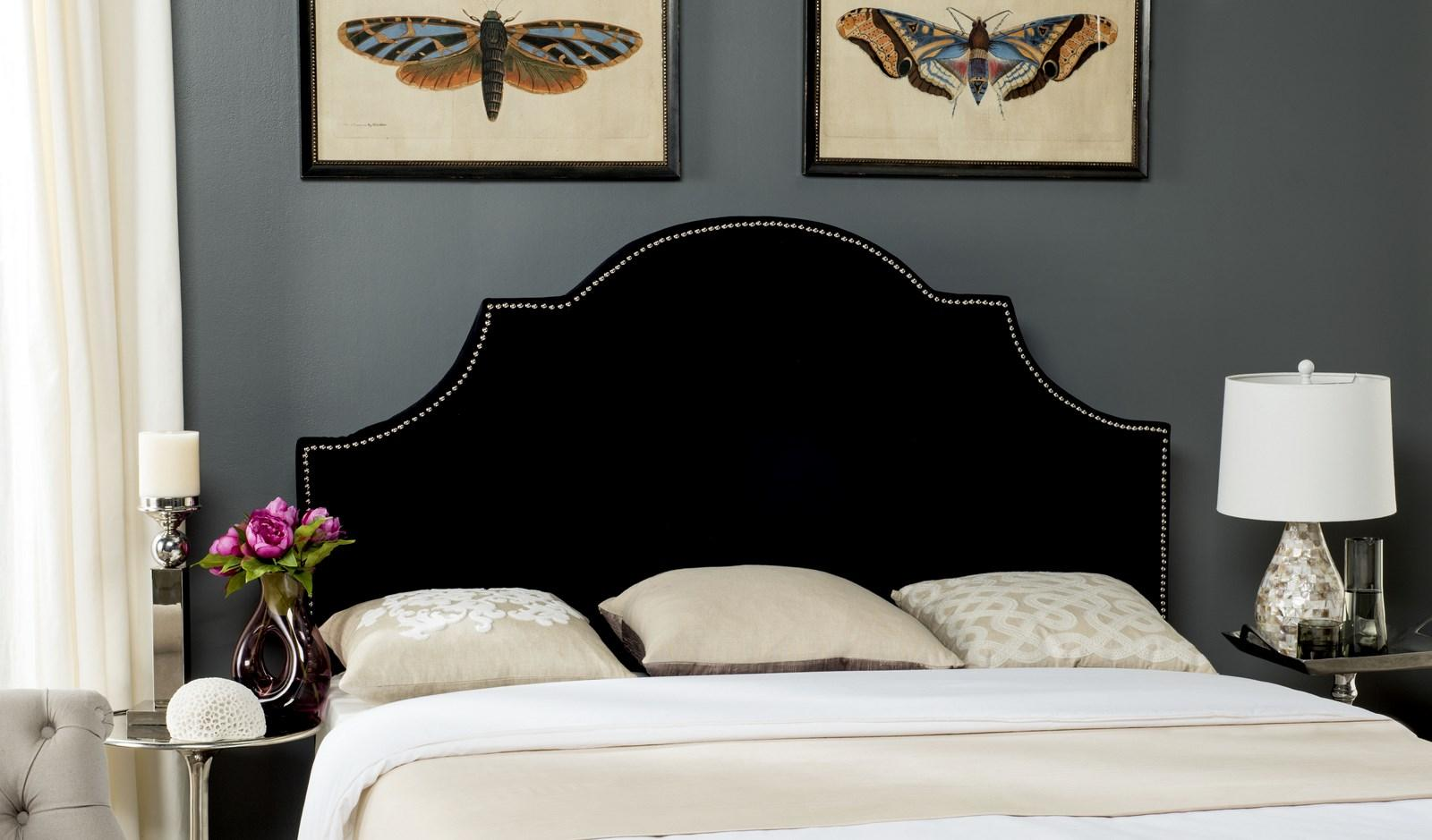 velvet for your platform also wooden and headboard with interior design fabric blue comforter blu bed excellent decoration combined bedside white stool ideas classy brown table bedroom tufted black