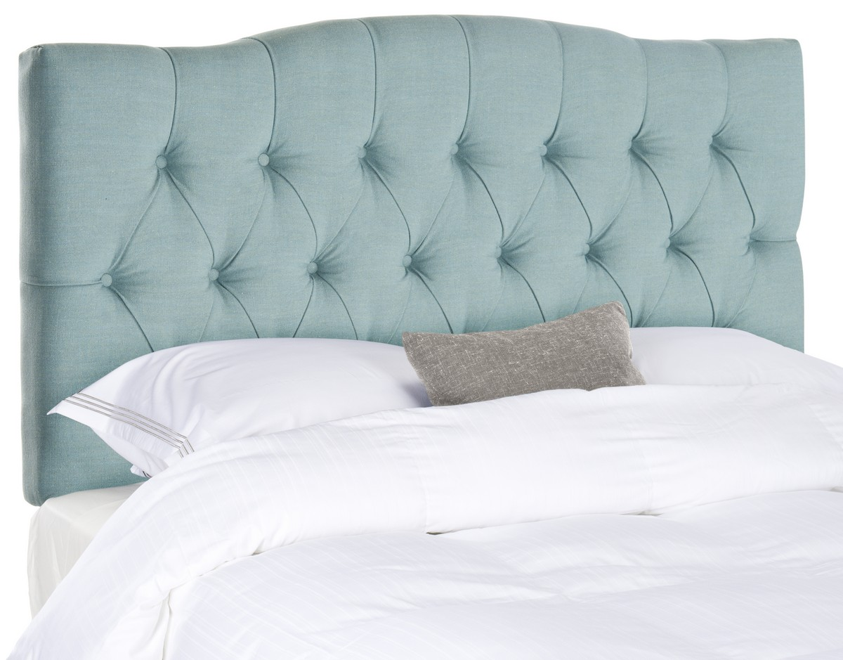 Axel Sky Blue Tufted Headboard Headboards Furniture By