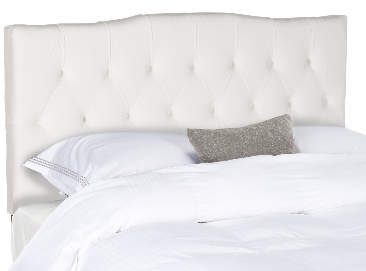 axel white tufted headboard