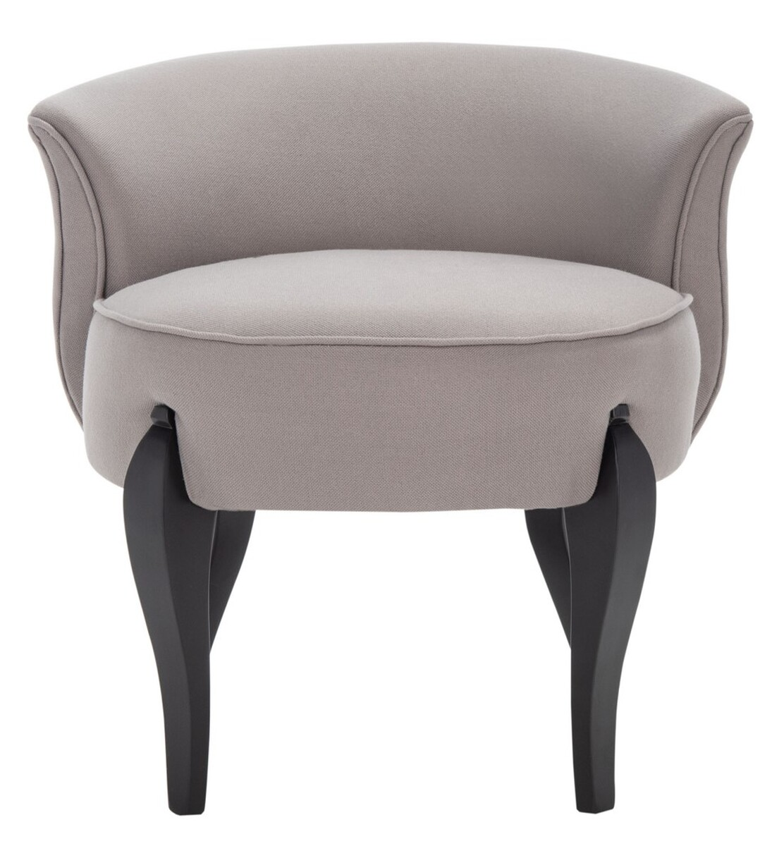 MORA FRENCH LEG LINEN VANITY CHAIR Item: MCR4692B Color: Sea Mist