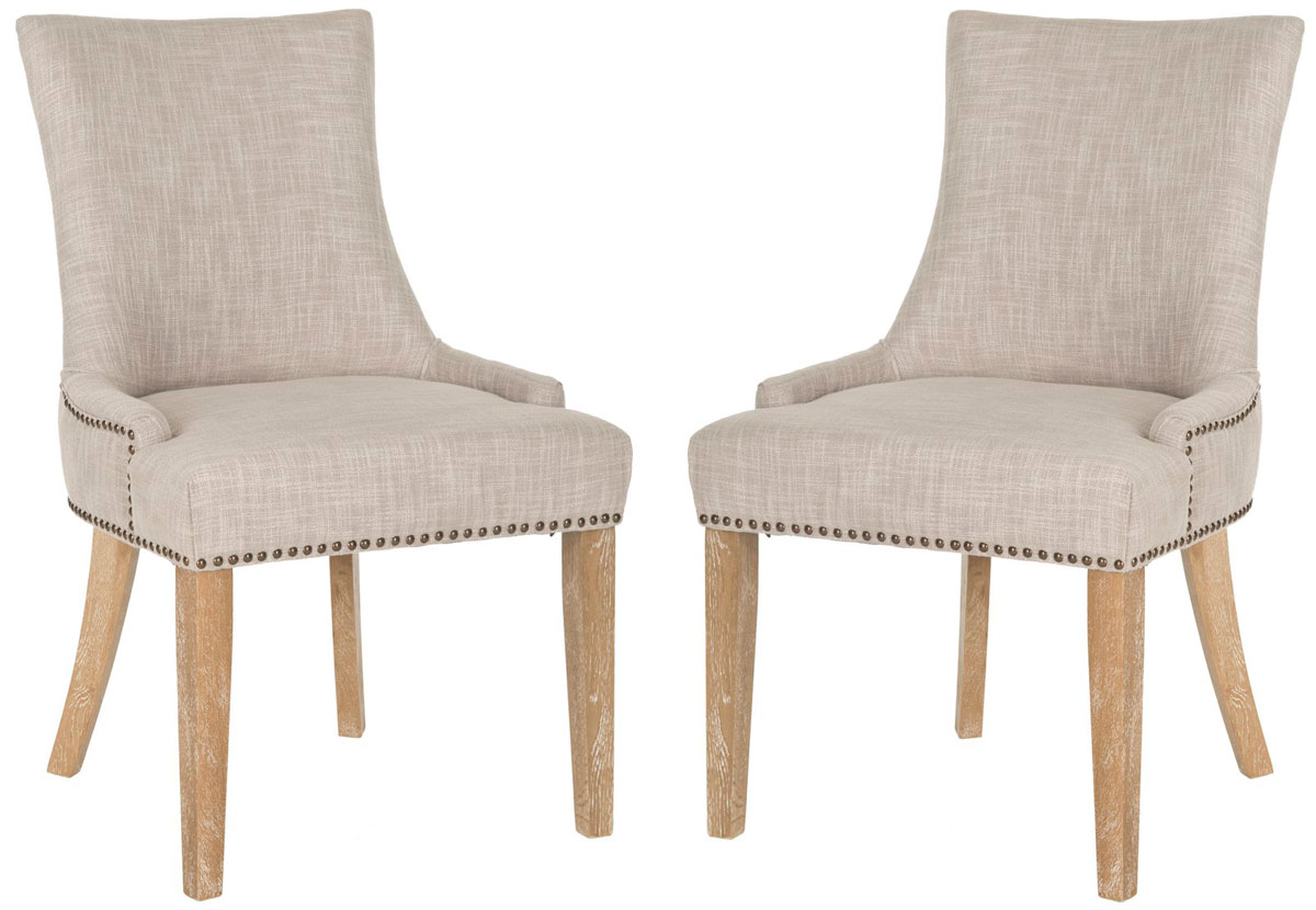 mcrpset dining chairs  furniture by safavieh - the lester dining chair by safavieh is full of elegant ease with low slopedarms and a slight hourglass shape to the seat back upholstered in a softgray