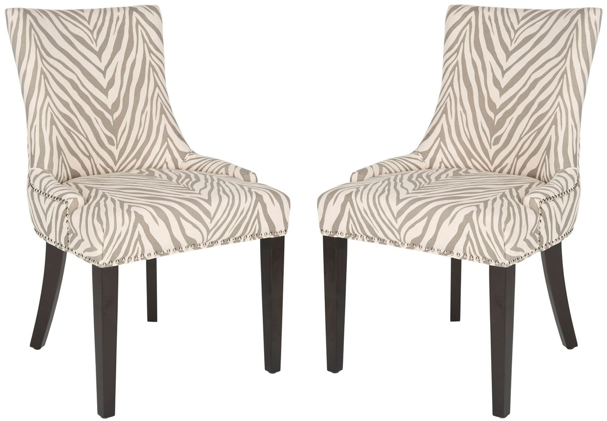 LESTER 19u0027u0027H DINING CHAIR (SET OF 2)   SILVER NAIL HEADS MCR4709Q SET2  DINING CHAIRS