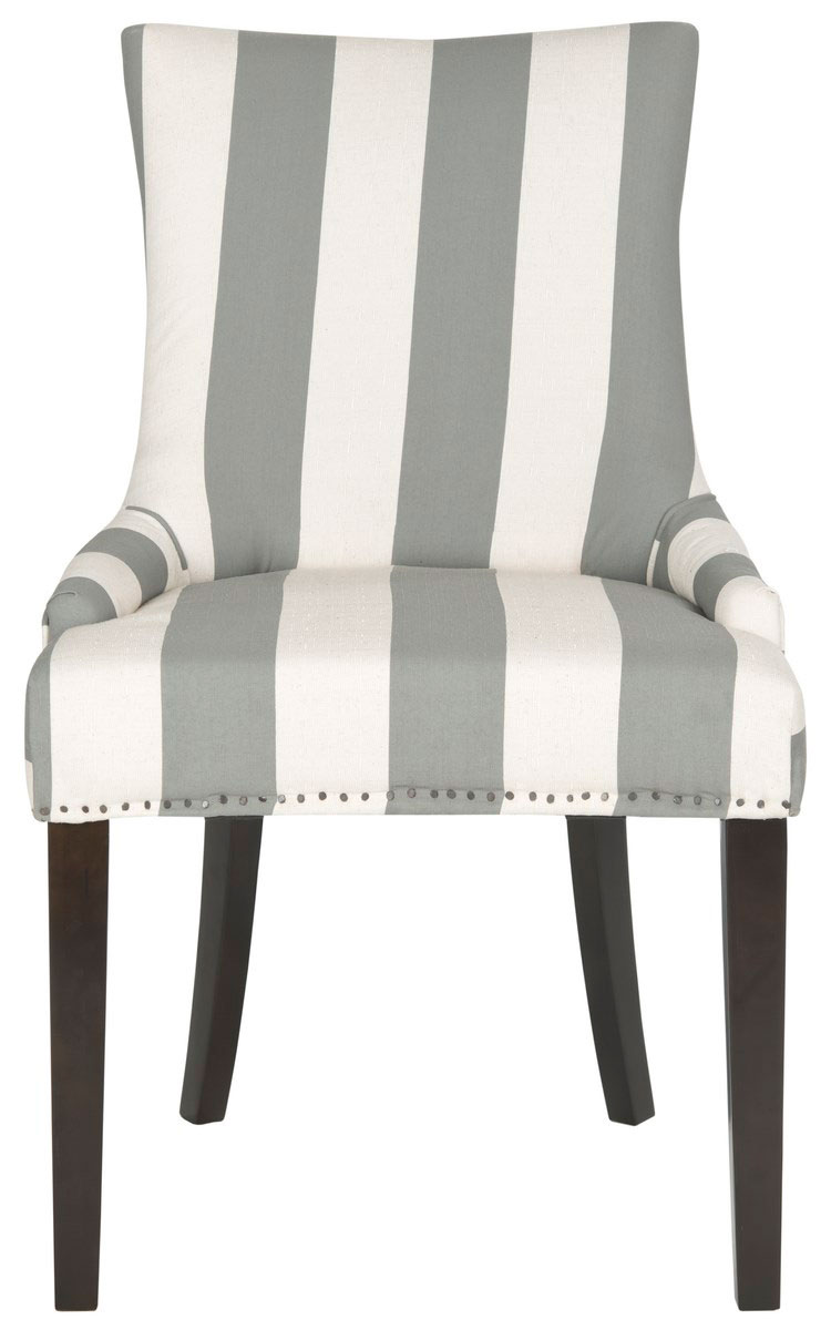 Dining Chairs Color Grey And Bone Stripe Save Mcr4709x Set2