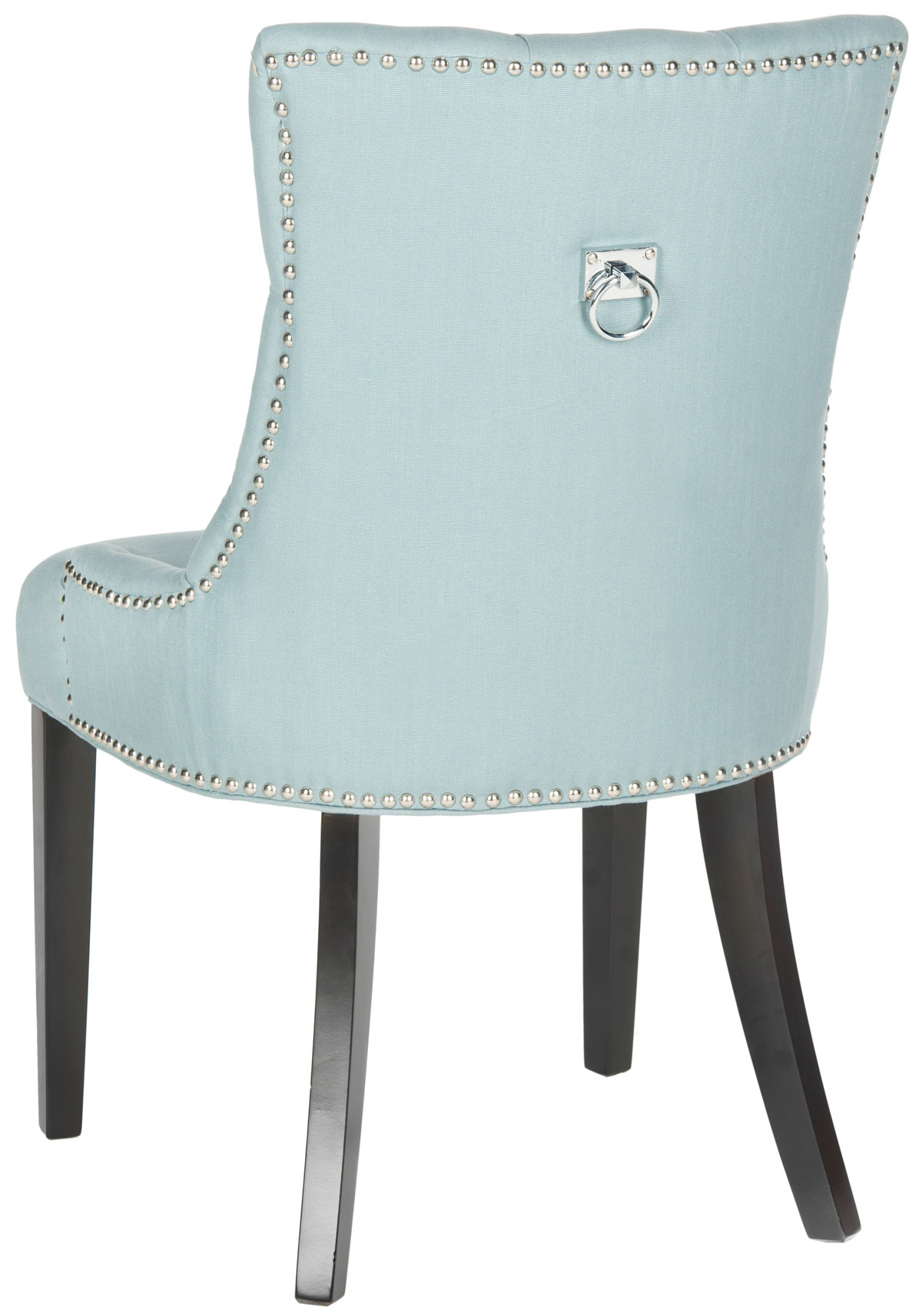 Harlow 19 H Tufted Ring Chair Set Of 2 Silver Nail Heads Mcr4716e Set2 Dining Chairs Color Light Blue