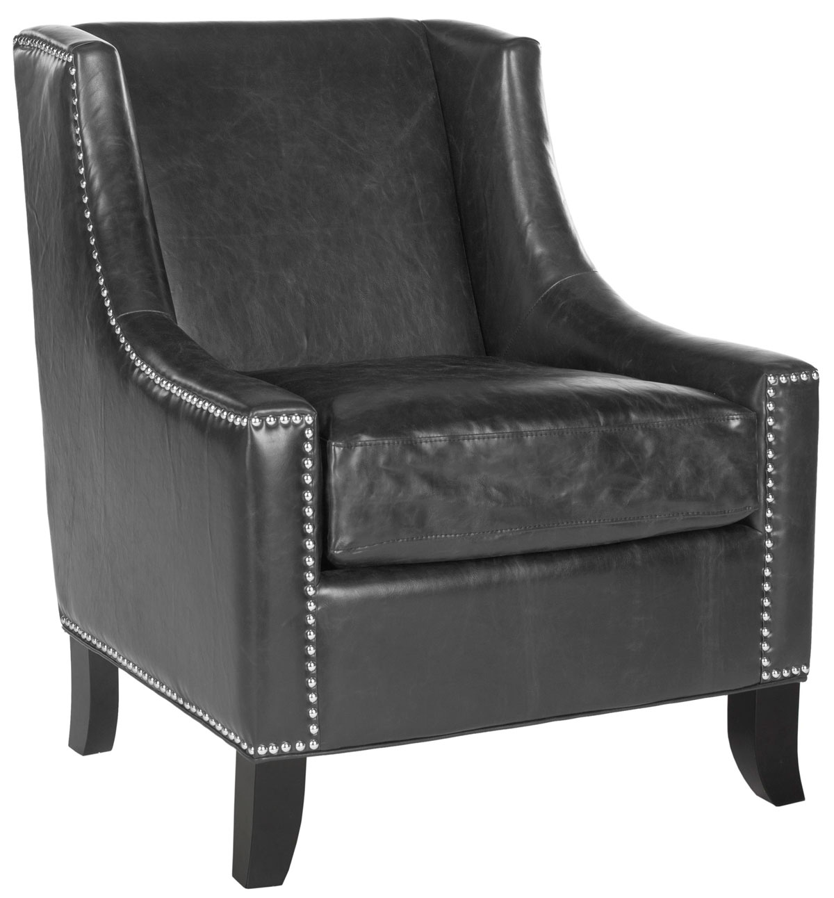 DANIEL CLUB CHAIR   SILVER NAIL HEADS MCR4733A ACCENT CHAIRS