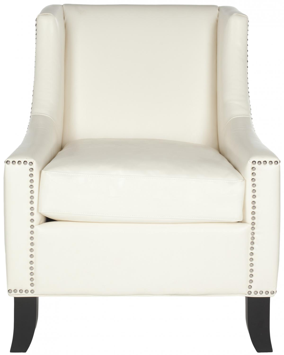 DANIEL CLUB CHAIR   SILVER NAIL HEADS MCR4733B ACCENT CHAIRS