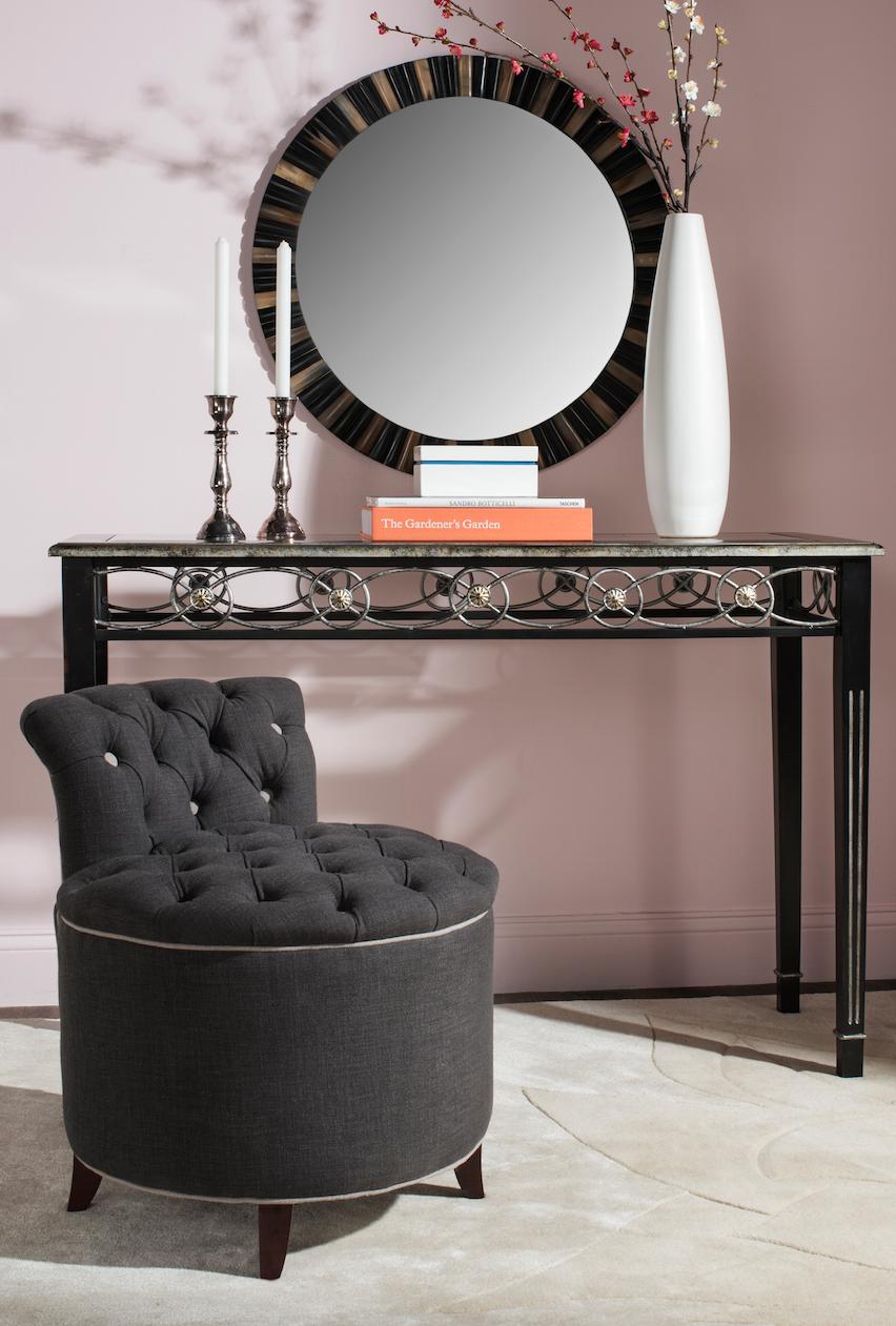 Miraculous Mcr4518A Vanity Stools Furniture By Safavieh Lamtechconsult Wood Chair Design Ideas Lamtechconsultcom