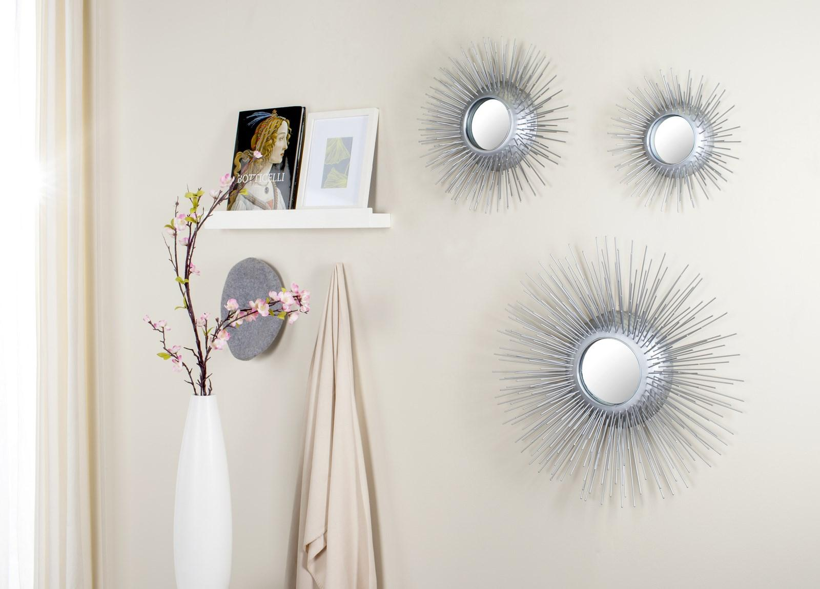 Sunburst Triptych Mirror Set Of 3 Mir4038b Mirrors
